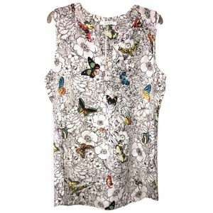 Sioni Sleeveless Butterfly Blouse - Size Large